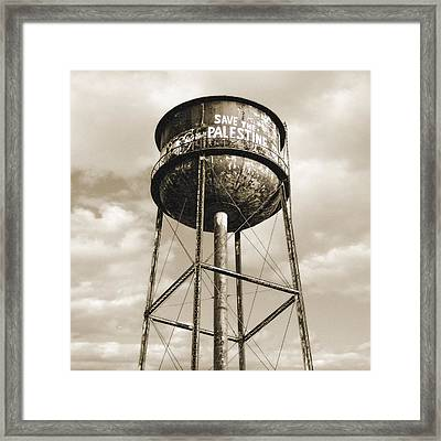 Framed Print featuring the photograph New York Water Towers 11 - Greenpoint Brooklyn by Gary Heller