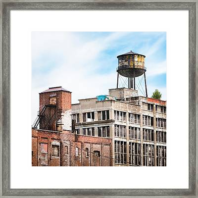 Framed Print featuring the photograph New York Water Towers 18 - Greenpoint Water Tower by Gary Heller