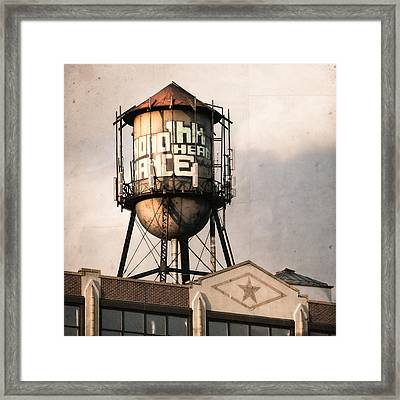 New York. Water Towers 6 Framed Print