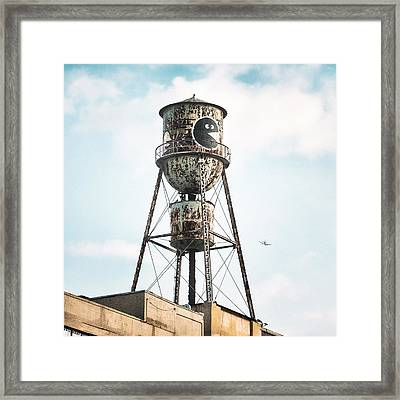 Framed Print featuring the photograph New York Water Towers 9 - Bed Stuy Brooklyn by Gary Heller
