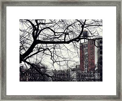 New York Winter Day 2 Framed Print by Sarah Loft