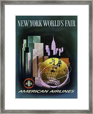 New York Worlds Fair Framed Print by Mark Rogan