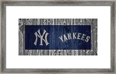 New York Yankees Barn Door Framed Print by Dan Sproul