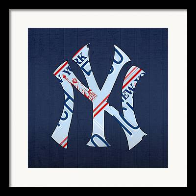 New York Yankees Mixed Media Framed Prints