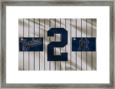 New York Yankees Derek Jeter Framed Print by Joe Hamilton