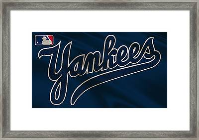 New York Yankees Uniform Framed Print by Joe Hamilton