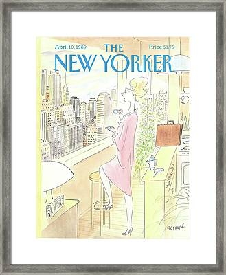 New Yorker April 10th, 1989 Framed Print
