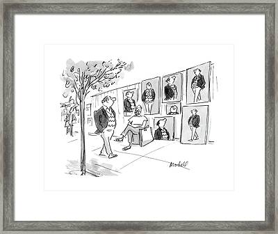 New Yorker April 11th, 1988 Framed Print by Frank Modell