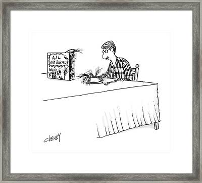 New Yorker April 11th, 1988 Framed Print by Tom Cheney