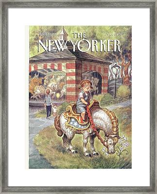 New Yorker April 11th, 1994 Framed Print