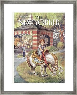 New Yorker April 11th, 1994 Framed Print by Peter de Seve