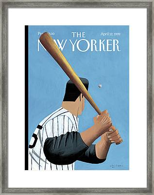 New Yorker April 12th, 1999 Framed Print by Mark Ulriksen
