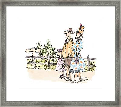 New Yorker April 12th, 1999 Framed Print by William Steig