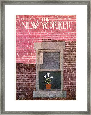 New Yorker April 13th, 1968 Framed Print by Charles E. Martin
