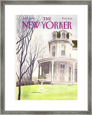 New Yorker April 13th, 1981 Framed Print by Charles Saxon