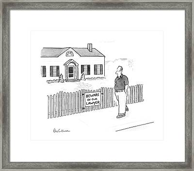 New Yorker April 13th, 1987 Framed Print by Leo Cullum