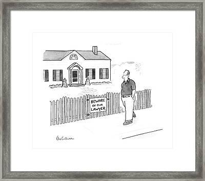 New Yorker April 13th, 1987 Framed Print