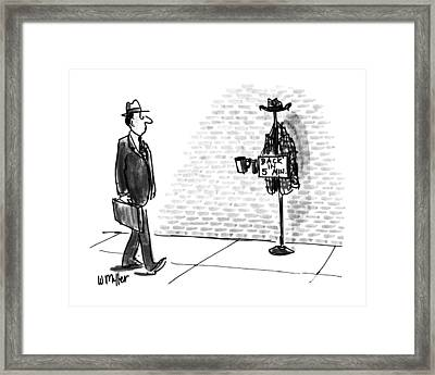 New Yorker April 13th, 1992 Framed Print
