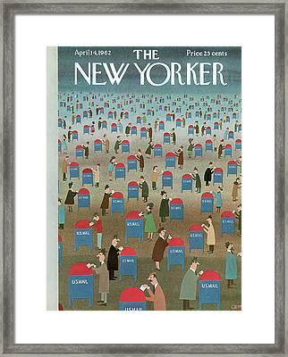 New Yorker April 14th, 1962 Framed Print by Charles E. Martin