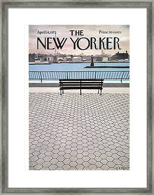 New Yorker April 14th, 1973 Framed Print by Charles E. Martin