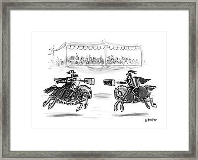 New Yorker April 15th, 1991 Framed Print by Warren Mille