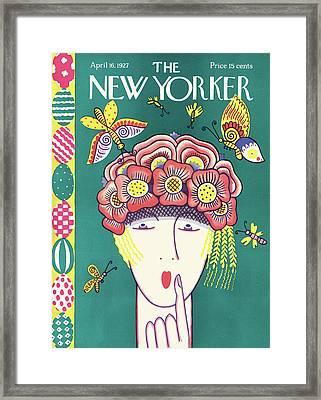 New Yorker April 16th, 1927 Framed Print by Ilonka Karasz