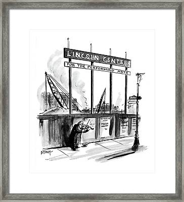New Yorker April 16th, 1960 Framed Print by Barney Tobey