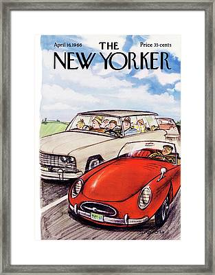 New Yorker April 16th, 1966 Framed Print by Charles Saxon