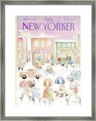 New Yorker April 16th, 1984 Framed Print by Anne Burgess