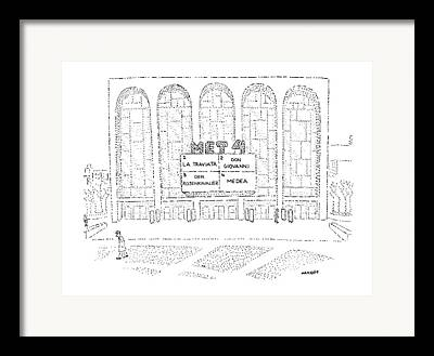 Metropolitan Opera Framed Prints