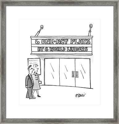 New Yorker April 16th, 1990 Framed Print