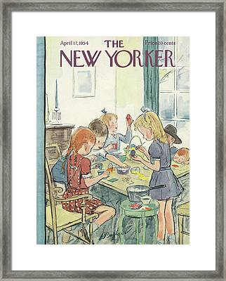 New Yorker April 17th, 1954 Framed Print by Perry Barlow
