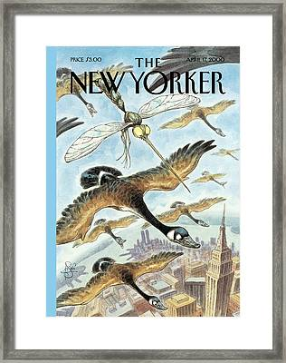 New Yorker April 17th, 2000 Framed Print by Peter de Seve