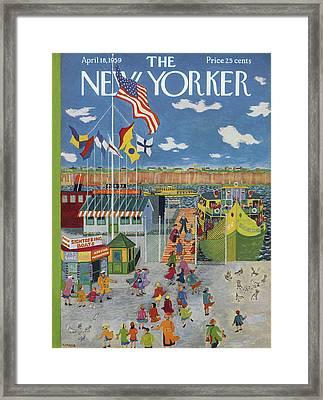 New Yorker April 18th, 1959 Framed Print by Ilonka Karasz