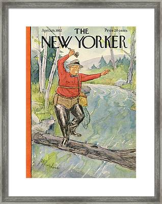 New Yorker April 19th, 1952 Framed Print by Perry Barlow