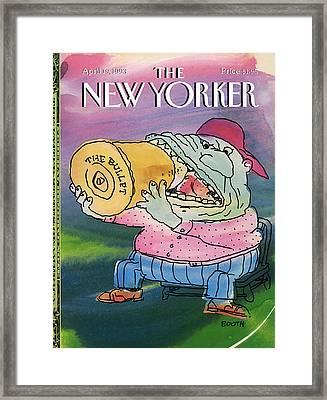 New Yorker April 19th, 1993 Framed Print