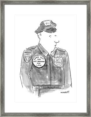 New Yorker April 19th, 1999 Framed Print by Robert Mankoff