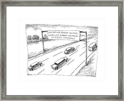 New Yorker April 1st, 1991 Framed Print by John O'Brien
