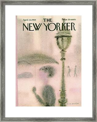 New Yorker April 20th, 1968 Framed Print by Laura Jean Allen