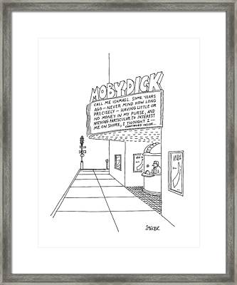 New Yorker April 20th, 1987 Framed Print by Jack Ziegler