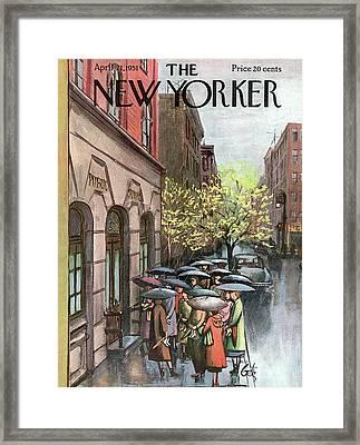 New Yorker April 21st, 1951 Framed Print by Arthur Getz