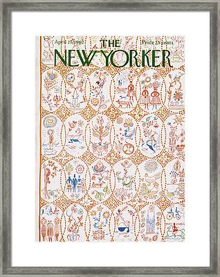 New Yorker April 21st, 1962 Framed Print by Anatol Kovarsky