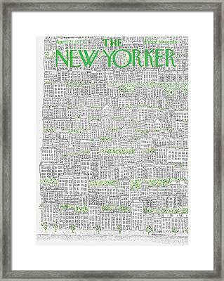New Yorker April 21st, 1973 Framed Print by Raymond Davidson
