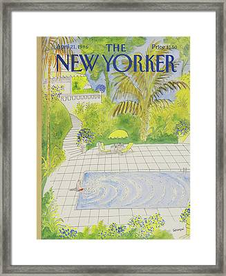 New Yorker April 21st, 1986 Framed Print