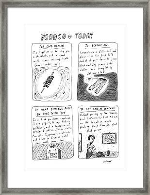 New Yorker April 21st, 1986 Framed Print by Roz Chast