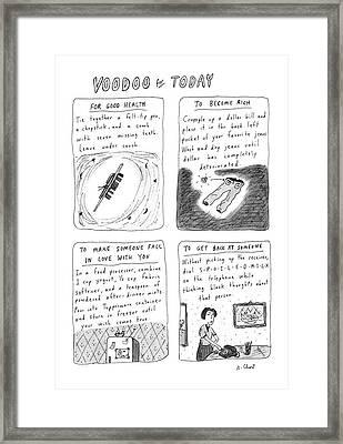 New Yorker April 21st, 1986 Framed Print
