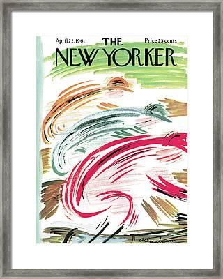 New Yorker April 22nd, 1961 Framed Print by Abe Birnbaum