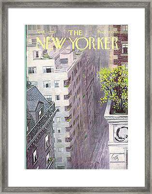 New Yorker April 22nd, 1967 Framed Print by Arthur Getz