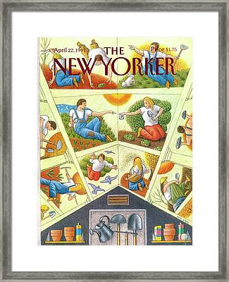New Yorker April 22nd, 1991 Framed Print by Bob Knox