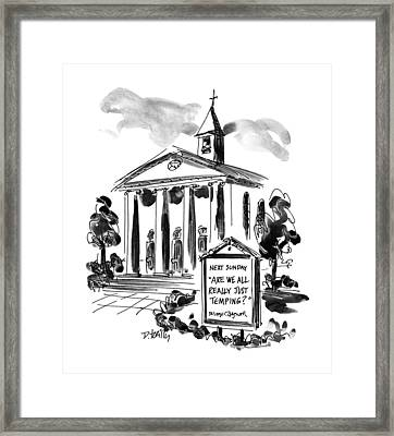 New Yorker April 22nd, 1996 Framed Print by Donald Reilly